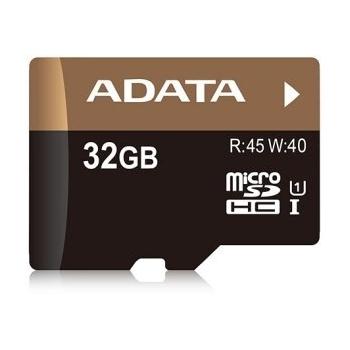 Micro-SDHC 32GB Class 10, read 45MB/s, write 40MB/s, Premier Pro