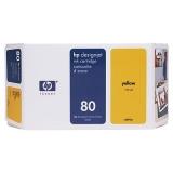 Cartus Cerneala HP Nr. 80 Yellow 350 ml for Designjet 1050, Designjet 1055 C4848A