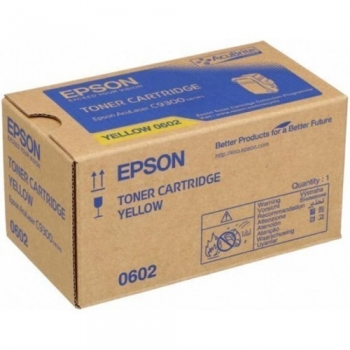 Cartus Toner Epson C13S050602 Yellow 7500 Pagini for Aculaser C9300D2TN, C9300D3TNC, C9300DN, C9300DTN, C9300N, C9300TN