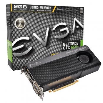 Placa Video EVGA nVidia GeForce GTX 660 Ti SuperClocked 2GB GDDR5 192bit PCI-E x16 3.0 HDMI 2x DVI DisplayPort 02G-P4-3662-KR
