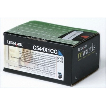 Cartus Toner Lexmark C544X1CG Cyan Extra High Yield Return Program 4000 pagini for C544, X544, C546, X546, X548