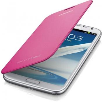 Husa Samsung Flip Cover pentru N7100 Galaxy Note II Pink EFC-1J9FPEGSTD