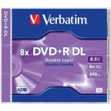 DVD+R Verbatim 8.5GB 8x Dual Layer Jewel Case 43541