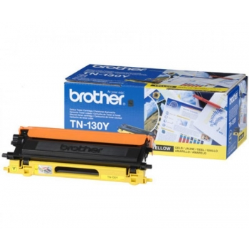 Cartus Toner Brother TN130Y Yellow 1500 pagini for DCP-9040CN, DCP-9042CDN, DCP-9045CDN, HL-4040CN, HL-4050CDN, HL-4070CDW, MFC-9440CN, MFC-9450CDN, MFC-9840CDW