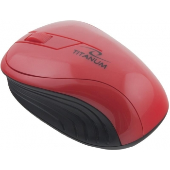TITANUM Wireless Optical Mouse 3D TM115R NEON | 2.4 GHz | 1000 DPI | Red TM115R - 5901299904831