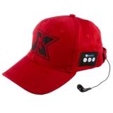 Sapca sport cu casti handsfree Bluetooth Serioux culoare rosu