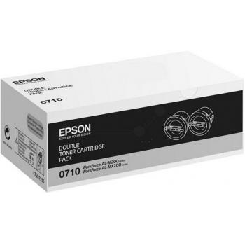 Pachet Cartus Toner Epson C13S050710 Black 2 Bucati 2x2500 Pagini for WorkForce AL-M200DN, AL-M200DW, AL-MX200DNF, AL-MX200DWF