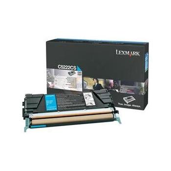 Cartus Toner Lexmark C5222CS Cyan 3000 pagini for C522N, C524, C524DN, C524DTN, C524N, C530DN, C532DN, C532N, C534DN, C534DTN, C534N