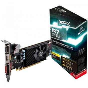 Placa Video XFX Radeon R7 240 2GB GDDR3 128bit PCI-E x16 VGA DVI HDMI R7-240A-CLF2