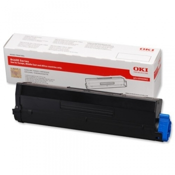 Cartus Toner Oki 43502002 Black 7000 Pagini for B4600, B4600N, B4600NPS, B4600PS