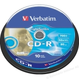 CD-R Verbatim 700MB 52X EXPROT 10 bucati 43437