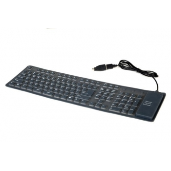 Tastatura Gembird KB-109F-B Flexibila PS2/USB Black