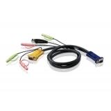 Cablu KVM Aten 2L-5302U 1.8m HD15M/USBM/SP/SP-SPHD15M