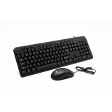 WIRED KIT SPACER USB QWERTY multimedia keyboard + optical mouse combo
