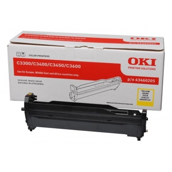 Unitate Cilindru Oki 43460205 Yellow 15000 Pagini for C3300N, C3400N, C3450N