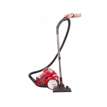 Aspirator Heinner HVC-M1400RD, putere 1400W, putere absorbtie 245W, recipient praf: 2.2 l, variator putere, 2 accesorii: pentru spatii inguste si perie de praf, tija telescopica din metal, cablu alimentare 5m, culoare: rosu