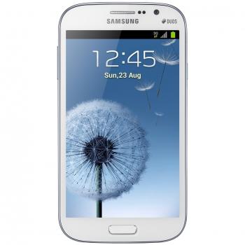 "Telefon Mobil Samsung Galaxy Grand White i9082 5"" 480 x 800 Cortex A9 Dual Core 1.2GHz memorie interna 8GB Camera Foto 8MPx Android v4.1 SAMI9082WHT"