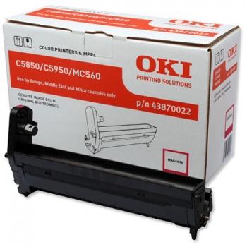 Unitate Cilindru Oki 43870022 Magenta 20000 Pagini for C5850N, C5950N, MC 560N, MC560DN