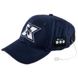 Sapca sport cu casti handsfree Bluetooth Serioux albastru inchis