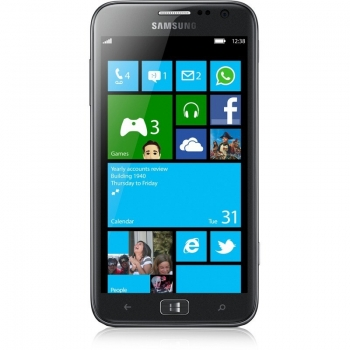 "Telefon Mobil Samsung Ativ S Silver i8750 4.8"" 720 x 1280 Super AMOLED Gorilla Glass Krait Dual Core 1.5GHz memorie interna 16GB Windows Phone 8 SAMI8750AS"