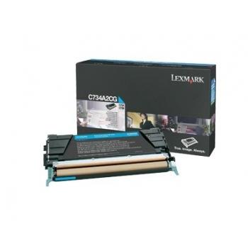 Cartus Toner Lexmark C734A2CG Cyan 6000 pagini for C734, X734, C736, X736, X738