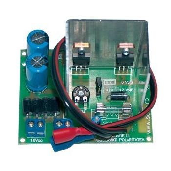 Sursa stabilizata Bentel PS1520 1.5Ah 6/12 V Modul incarcare acumulator