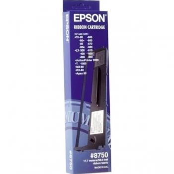 Ribbon Epson Nr. 8750 Black for FX-80, FX-800, FX-85, FX-850, FX-870, FX-880, LX-300, LX-400, LX-800, LX-810, LX-850, LX-860, MX-80, MX-82, RX-80 C13S015019