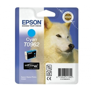 Cartus Cerneala Epson T0962 Cyan 11.4ml for Stylus Photo R2880 C13T09624010