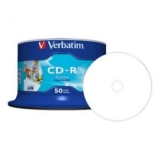 CD-R 52X VERBATIM 700MB SP50/PK PRINT 43438