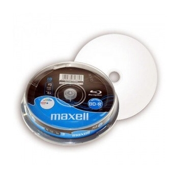 BD-R MAXELL BLU-RAY FF INKJET 25GB 4X 10/C QDBD-RMX25GB/10