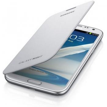 Husa Samsung Flip Cover pentru N7100 Galaxy Note II White EFC-1J9FWEGSTD