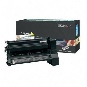 Cartus Toner Lexmark C7720YX Yellow Extra High Yield Return Program 15000 pagini for C772N, X772N