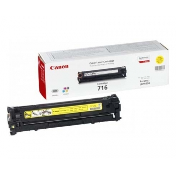 Cartus Toner Canon CRG-716Y Yellow 1500 Pagini for LBP 5050, LBP 5050N, MF 8030CN, MF 8050CN CR1977B002AA