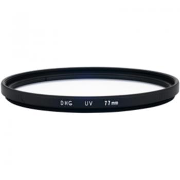 Model : 77mm DHG-UV (L390), Tip : Filtru DHG, Caracteristici : Filtrul blocheaza razele ultraviolete. Se foloseste in conditii de vreme buna. Se poate folosi de asemenea si ca o lentila de protectie. Diametrul: 77mm, Garantie : 2ani, Cod produs: