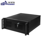 "Carcasa rack 19""/4U/455mm cu manere, se pot monta placi de baza ATX, m-ATX, 2x5.25"", 1x3,5 la vedere, 12x3.5"" ascunse, removable, 2x6cm si 1x12cm coolers, 2x USB, fara sursa (se poate monta sursa format ATX), filtru de praf pe front panel,"