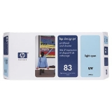 Cap Printare & Cleaner HP Nr. 83 UV Light Cyan for Designjet 5000/UV, 5500 42', 5500 60', 5500 PS 42', 5500 PS 60', 5500 PS UV 42', 5500 PS UV 60', 5500 UV 42', 5500 UV 60', 5500MFP A0 C4964A
