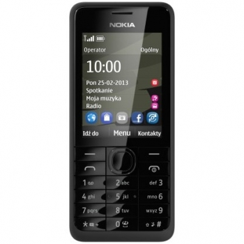 Telefon Mobil Nokia 301 Black Camera Foto 3.15 MP NOK301BLK