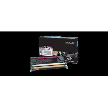 Cartus Toner Lexmark X748H1MG Magenta High Yield Return Program 10000 Pagini for X748