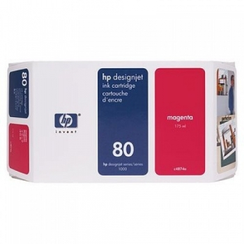 Cartus Cerneala HP Nr. 80 Magenta 350 ml for Designjet 1050, Designjet 1055 C4847A