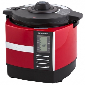Multicooker cu presiune Oursson MP5015PSD/RD, capaciate 5L, putere: 1100W, 52 programe de gatit, display LCD, pornire intarziata, carcasa termo-izolanta, timer, functie mentinere cald, rosu