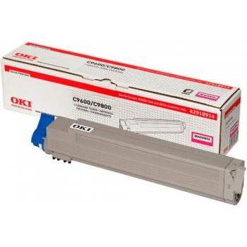 Cartus Toner Oki 42918914 Magenta 15000 Pagini for C9600DN, C9600HDN, C9600HDTN, C9600N, C9650DN, C9650HDN, C9650HDTN, C9650N, C9800HDN, C9800HDTN, C9850HDN, C9850HDTN, C9850MFP
