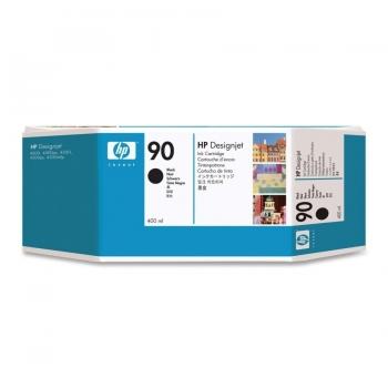 Cartus Cerneala HP Nr. 90 Black 400 ml for Designjet 4000, Designjet 4020, Designjet 4020PS, Designjet 4500, Designjet 4520, Designjet 4520 Scanner, Designjet 4520HD, Designjet 4520PS C5058A