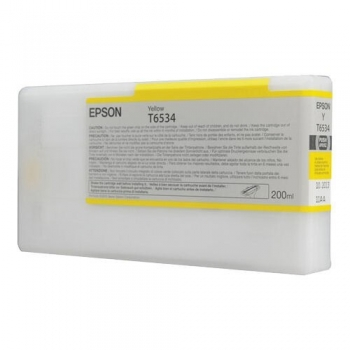 Cartus Cerneala Epson T6534 Yellow 200ml for Stylus Pro 4900 C13T653400