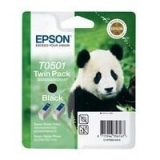 Cartus Cerneala Epson T0501 Black Twin Pack capacitate 1080 pagini for Epson Stylus Color 440, 460, 640, 660, 670, 1200, 700, EX C13T05014210