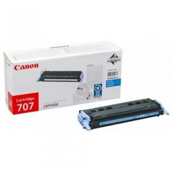 Cartus Toner Canon CRG-707C Cyan 2000 Pagini for LBP 5000, LBP 5100 CR9423A004AA