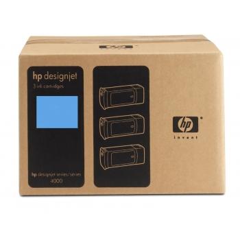 Pachet Cartus Cerneala HP Nr. 90 Cyan 3 Bucati 400 ml for Designjet 4000, Designjet 4020, Designjet 4020PS, Designjet 4500, Designjet 4520, Designjet 4520 Scanner, Designjet 4520HD, Designjet 4520PS C5083A