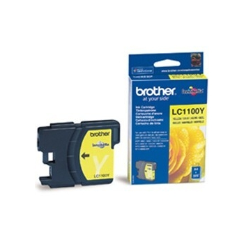 Cartus Cerneala Brother LC1100Y Yellow capacitate 325 pagini for Brother DCP-385C, DCP-395CN, DCP-585CW, DCP-J715W, MFC-490CW, MFC-5490CN, MFC-790CW, DCP-6690CW, MFC-5895CW, MFC-6490CW, MFC-6890CDW