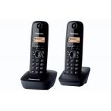 Telefon DECT Panasonic KX-TG1612FXH dublu negru