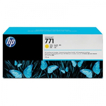 Cartus Cerneala HP Nr. 771 Yellow 775 ml for Designjet Z6200 42', Designjet Z6200 60' CE040A