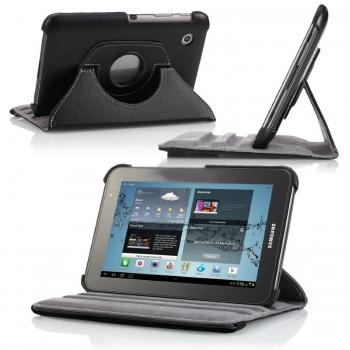 "Husa piele tableta 7"" rotativa pentru Galaxy Tab2"